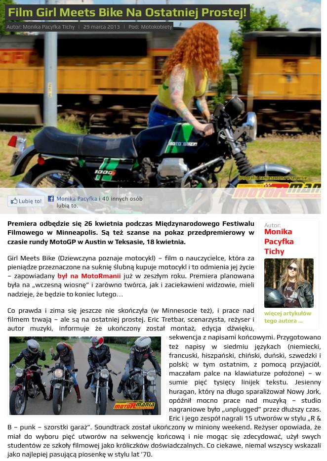 Girl Meets Bike :: Bikes + Press